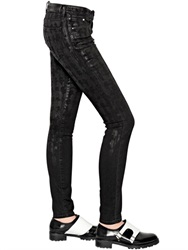 Karl Lagerfeld Karl Coated Stretch Denim Jeans