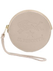 Il Bisonte Round Shape Wallet Grey