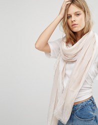 Calvin Klein Ck Jeans Scarf With Painted Edge Detail Beach White Beige