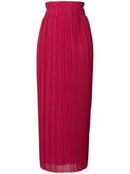 P.A.R.O.S.H. Long Flared Skirt Pink And Purple