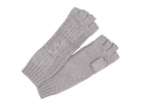 Ugg Isla Lurex Cable Fingerless Glove Grey Heather Multi Extreme Cold Weather Gloves Gray