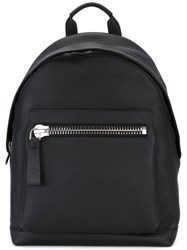 Tom Ford Buckley Backpack Men Cotton Calf Leather Polyester Zamac One Size Black