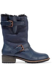 Australia Luxe Collective Easy Rider Shearling Boots Navy
