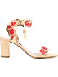 Tabitha Simmons 'Ollie' Heeled Sandals Nude And Neutrals