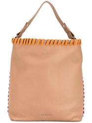Orciani Cubi Maxi Sellier Tote Nude Neutrals