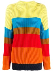 Chinti And Parker Oversized Ribbed Sweater Red