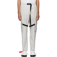 Off White Grey Nylon Cargo Pants