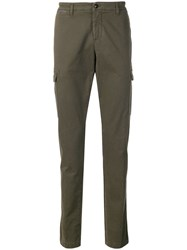 Eleventy Straight Cut Trousers Green