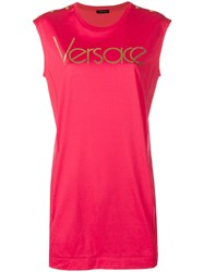 Versace Sleeveless Vintage Logo Top Red