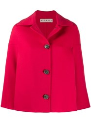 Marni Double Face Jacket Red