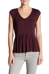 14Th And Union Solid Peplum Tee Red