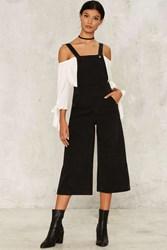Zee Gee Why Kick Culotte Overalls Black