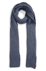 Bickley Mitchell Men's Rib Knit Scarf Indigo