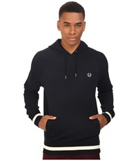 Fred Perry Hooded Sweat Navy Men's Long Sleeve Pullover
