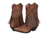 Dingo Hang Low Brown Distresssed Crazyhorse Goat Cowboy Boots
