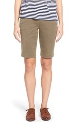 Women's Jag Jeans 'Ainsley' Slim Bermuda Shorts Hazelnut