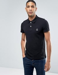 United Colors Of Benetton Short Sleeve Polo Shirt In Slim Fit Black 100