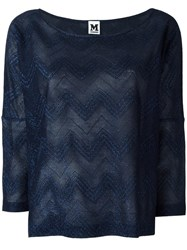 M Missoni Boat Neck Top Blue