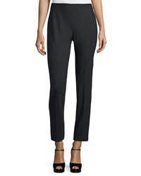 Michael Kors Collection Side Zip Skinny Ankle Pants Black Women's Size 6