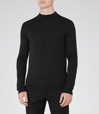 Reiss Windsor Mens Merino Rollneck In Grey