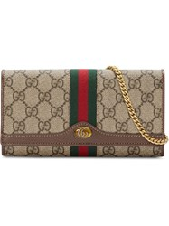Gucci Ophidia Gg Chain Wallet Neutrals