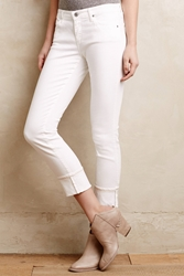 Ag Jeans Ag Cuffed Stevie Ankle Jeans White