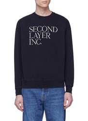 Second Layer Logo Embroidered Sweatshirt Black