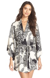 Josie 'Ethnic Blossom' Happi Coat Black