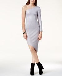 By Glamorous One Shoulder Asymmetrical Dress Created For Macy's Silver