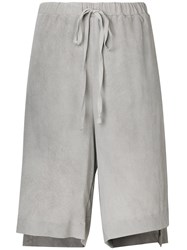 Lost And Found Ria Dunn Cut Out Side Shorts Grey