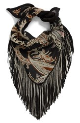Steve Madden Women's Chain Fringe Triangle Scarf Neutral