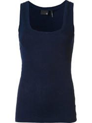 Ag Jeans Fitted Tank Top Blue
