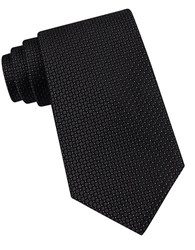 Calvin Klein Classic Fit Micro Dot Textured Silk Tie Black