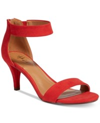 Style And Co Paycee Two Piece Dress Sandals Only At Macy's Women's Shoes Red