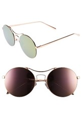 A. J. Morgan Women's A.J. Spacey 56Mm Sunglasses Rose Gold Pink Mirror Rose Gold Pink Mirror
