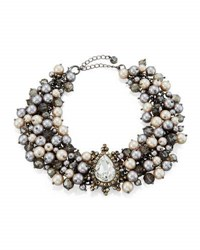 Lydell Nyc Crystal And Simulated Pearl Statement Choker