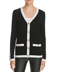 Bloomingdale's C By Button Cashmere Cardigan Black Snow