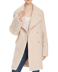 Whistles Penny Double Breasted Coat Pale Pink