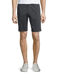 Theory Brucer Flat Front Shorts Night Black Men's