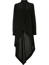 Forme D'expression High Low Hem Shirt Black