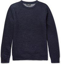 A.P.C. Jeremie Wool And Cotton Blend Sweatshirt Navy
