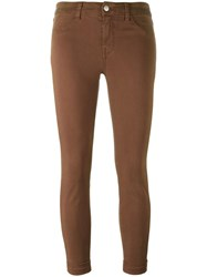 J Brand Cropped Jeans Brown