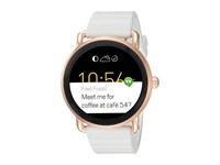 Fossil Q Wander Smartwatch Ftw2114 Rose Gold White Silicone Watches