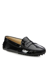 Tod's Gommini Patent Leather Driver Moccasins Black