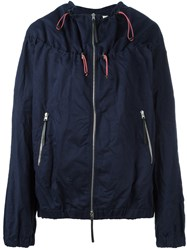 Marni Drawstring Bomber Jacket Blue