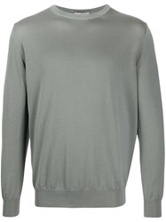 Canali Relaxed Fit Jumper Grey