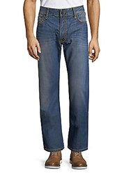 Robin's Jean Whiskered Cotton Jeans Smokey Blue