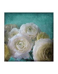 Marmont Hill Yellow Ranunculus B Painting Print On Wrapped Canvas Light Blue