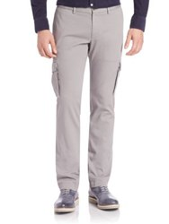 Faconnable Slim Fit Cargo Pants Grey