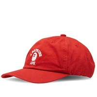 A Bathing Ape College Cap Red